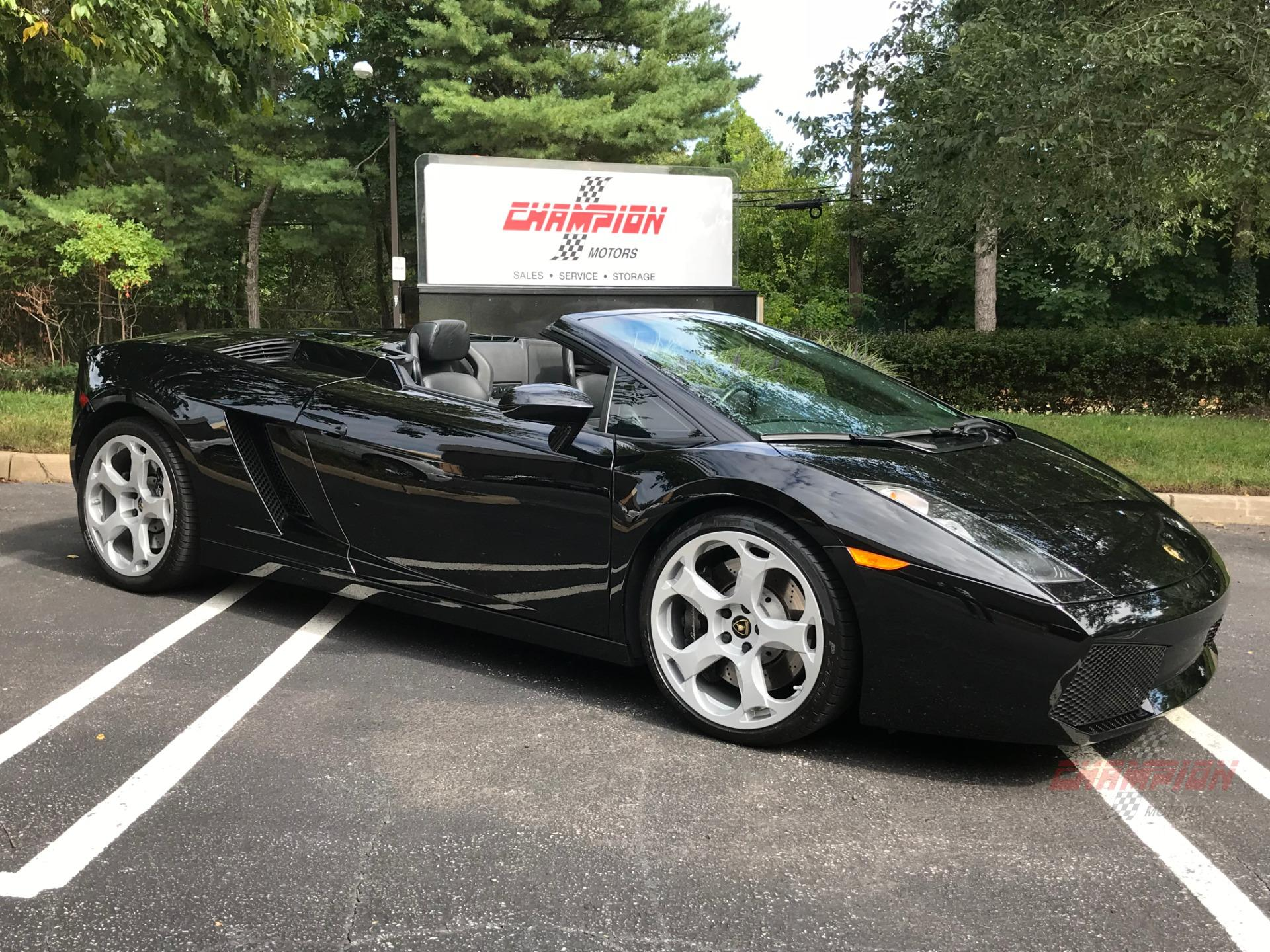 2008 Lamborghini Gallardo Rare 6 Speed Manual Spyder Champion
