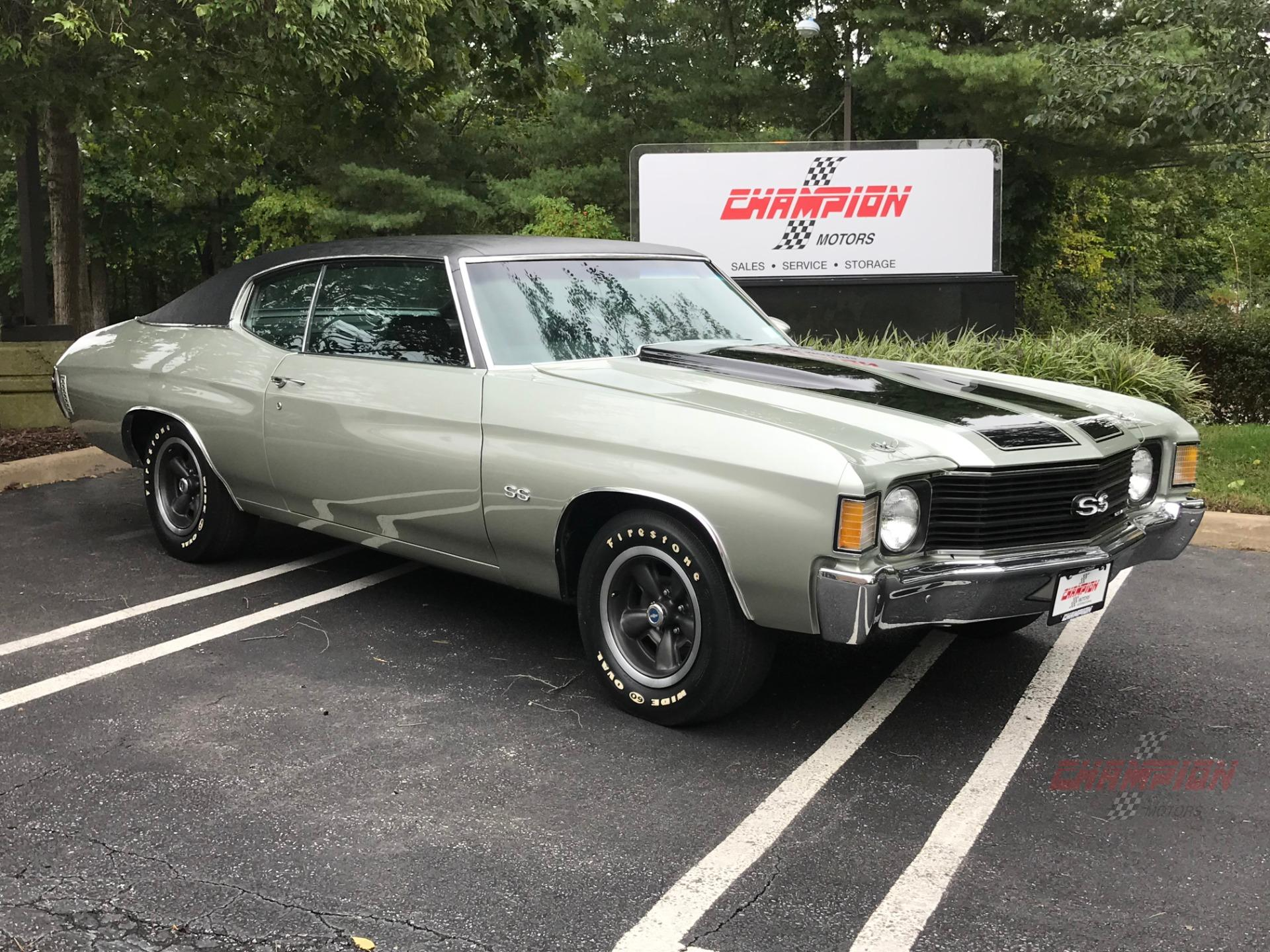 New Chevelle Ss >> 1972 Chevrolet Chevelle Ss Champion Motors International L Luxury