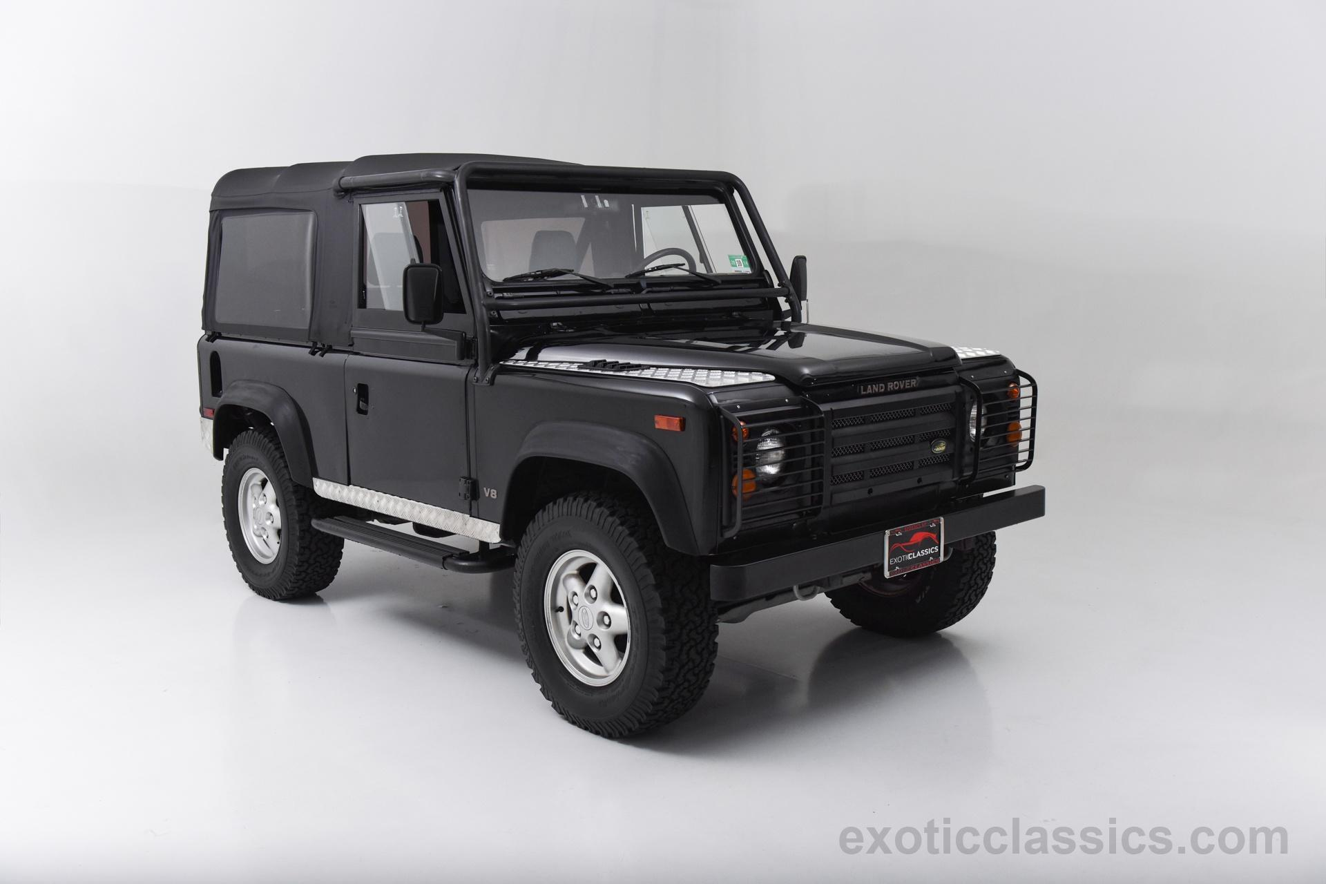 1995 land rover defender 90 champion motors international l exotic classic car dealership new. Black Bedroom Furniture Sets. Home Design Ideas