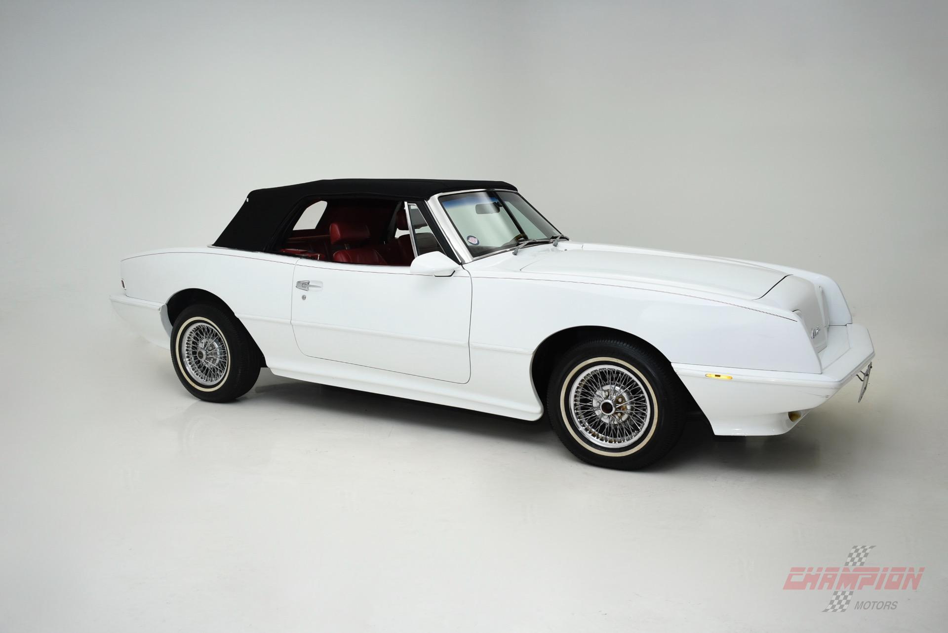 1989 Studebaker Convertible --: 1989 Avanti Convertible  11,752 Miles White Convertible 305 C.I. Automatic